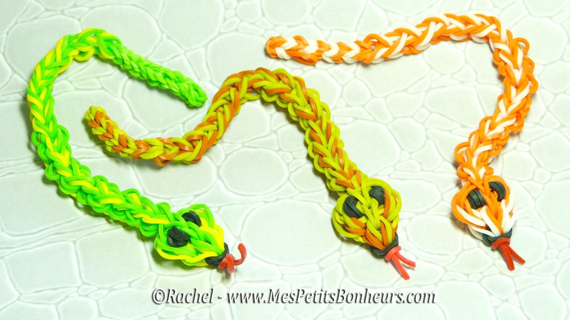 Serpent en élastiques Rainbow Loom Tuto - Niveau avancé