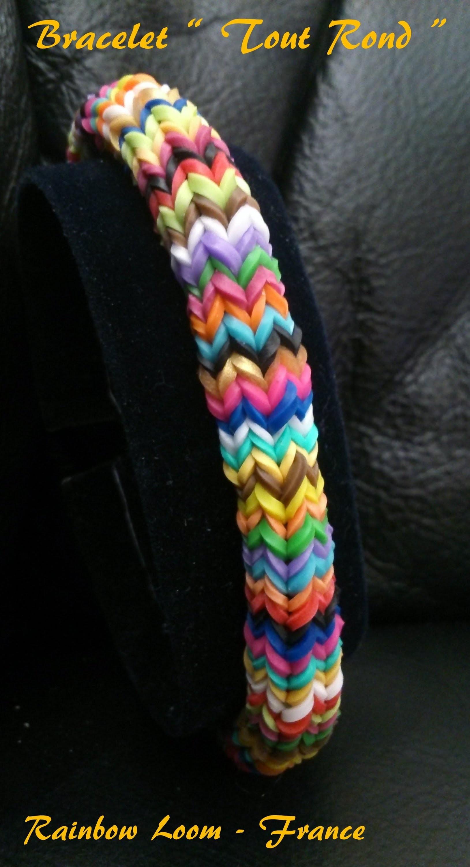 """Bracelet  """" Rond """" Rainbow Loom® Tutoriel Français (Niveau Intermédiaire)"""