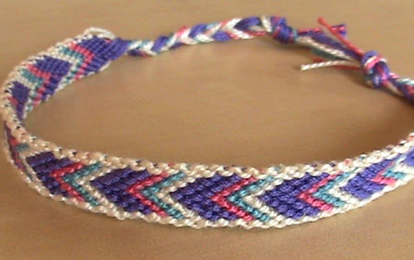 Bracelets brésiliens chevron avec bordure (débutant)