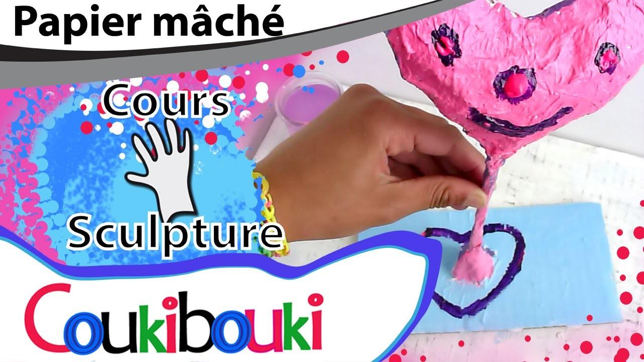 CŒUR en papier mâché Cadeau Fête des Mères - COURS COUKIBOUKI Comment faire ? Heart - How to Make ?