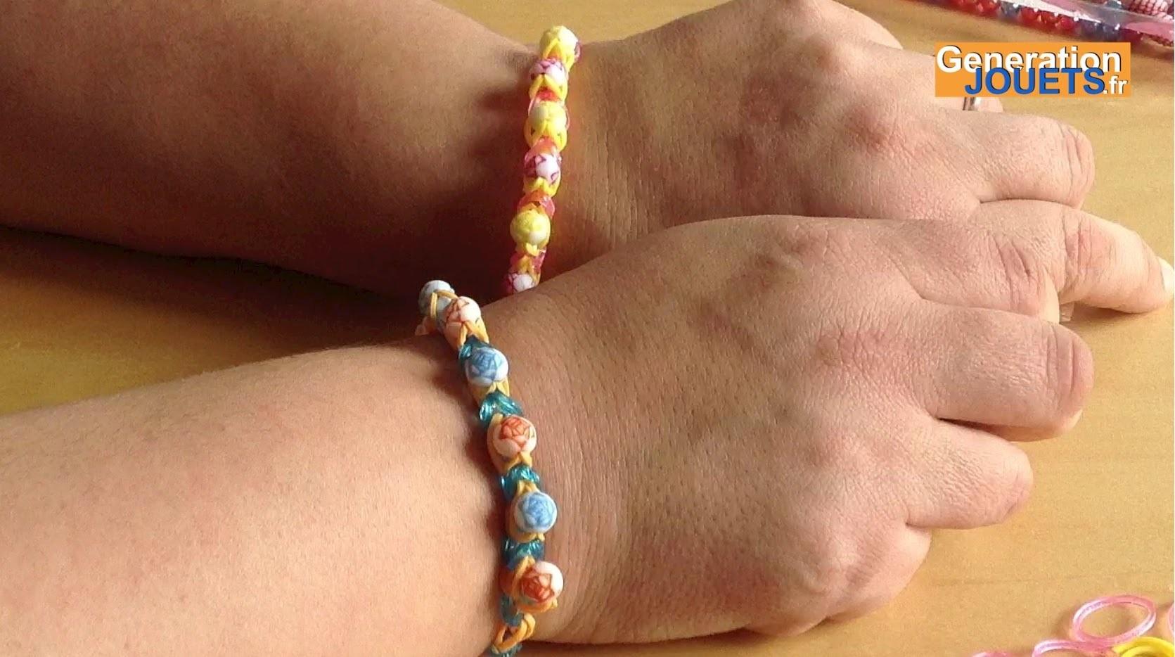 Créer un bracelet Rainbow Loom avec perles à maillon unique (en français)