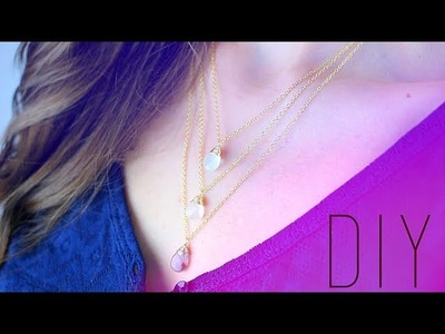 DIY-TUTO FETE DES MERES : COLLIER MULTIRANGS - LAYERED NECKLACE (english subs)