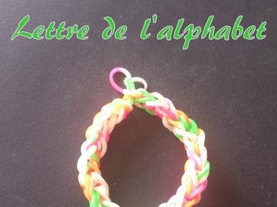 Lettre O Rainbow loom® Tutoriel Français (Niveau Débutant)
