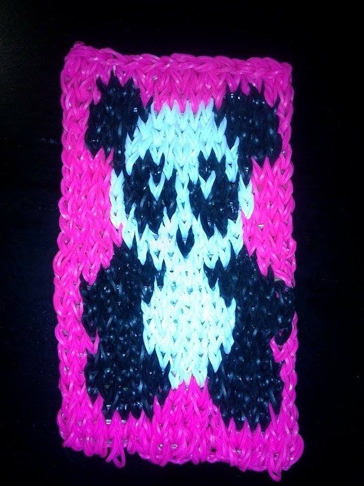 Panda mural en loom tutoriel en fran ais my crafts and for Mural en francais