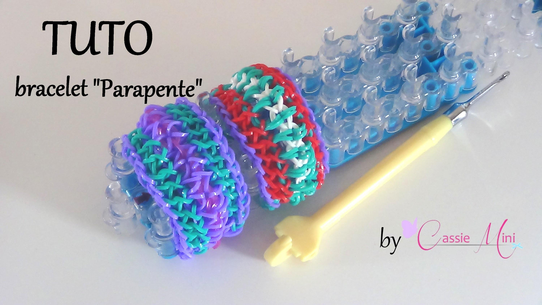 """[ TUTO ] bracelet """" Parapente """" en élastique"""
