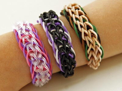 TUTO EXCLUSIF : bracelet chaînettes et cercles tressés - Rainbow Loom (en Français)