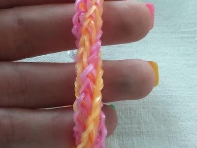 Bracelet double tresses twist Rainbow loom® Tutoriel Français (Niveau Intermédiaire)