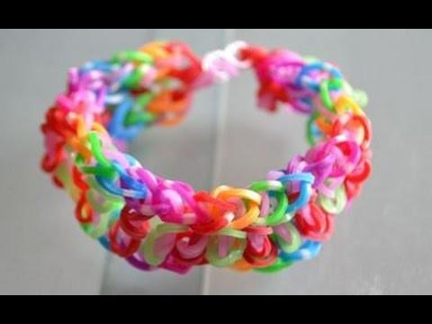 Bracelet élastique facile à faire : bijou en élastiques