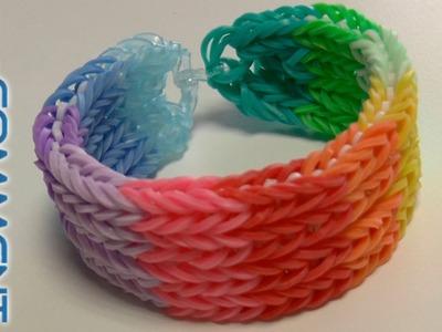 Bracelet Rainbow Loom à 4 rangées (Tutoriel en Français)