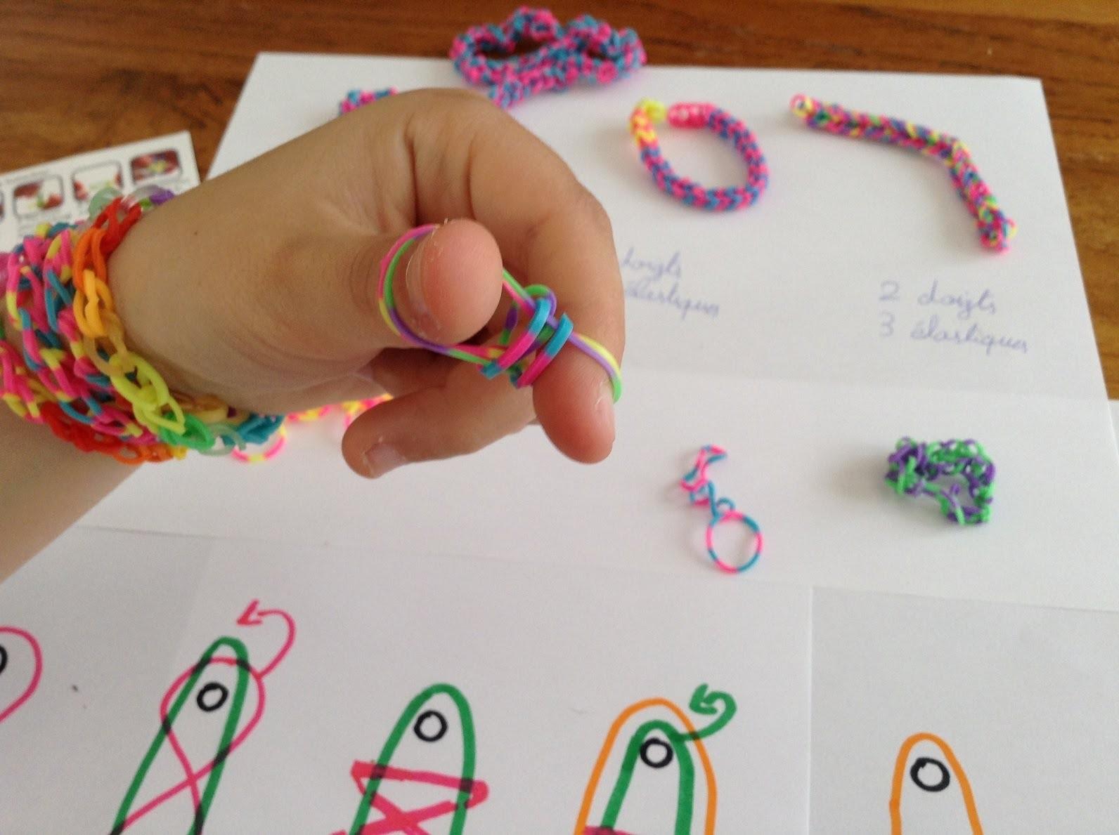 Bracelet Rainbow Loom elastiques Cra-Z-loom