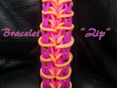 """Bracelet """" Zip """" Rainbow Loom® Tutoriel Français (Niveau Débutant)"""