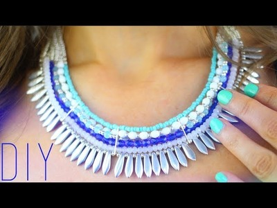 DIY : PLASTRON AVEC PERLES - BEADED STATEMENT NECKLACE ENGLISH SUBS
