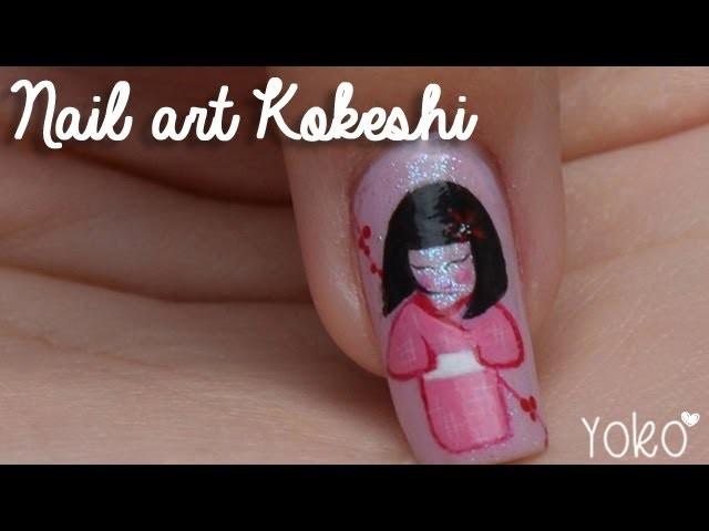 Nail art - Poupée Kokeshi