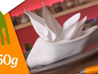 Pliage de serviettes en forme de voilier - 750 Grammes