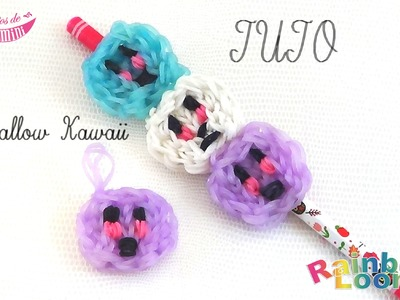 [ TUTO ] chamallow kawaii en élastique Rainbow Loom