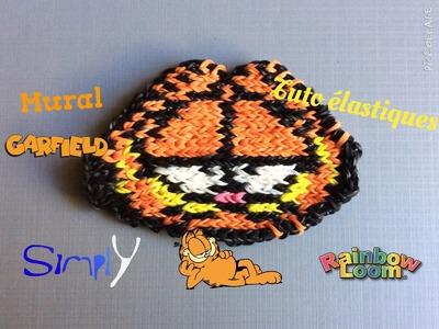 Tuto { Mural sans fond Garfield en élastiques Rainbow Loom } Simply