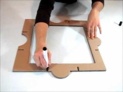 Montage du kit de Meuble en carton Huzzle : Etape 1