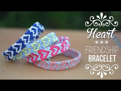 DIY-TUTO : BRACELET BRESILIEN COEUR - Heart friendship bracelets (english subs)