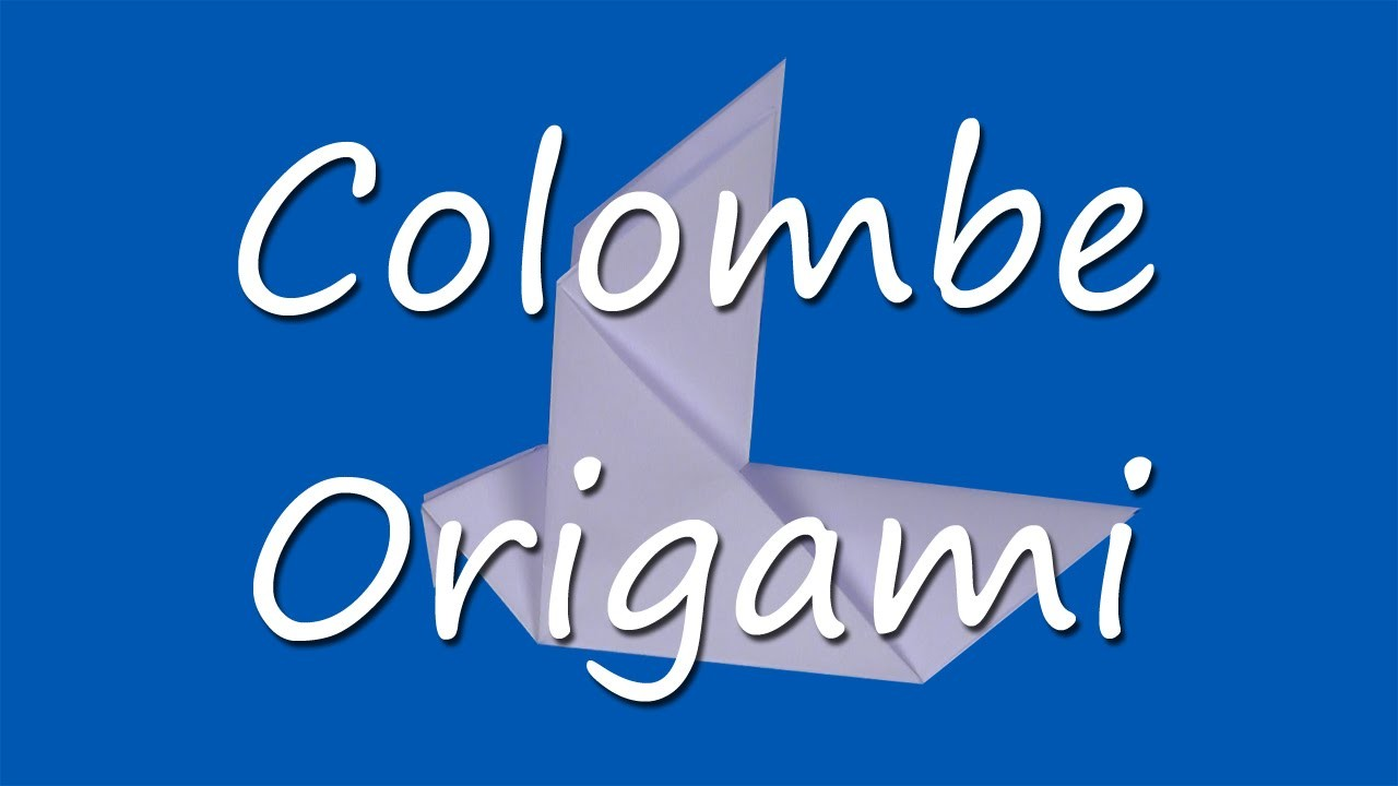 Comment faire une colombe en origami