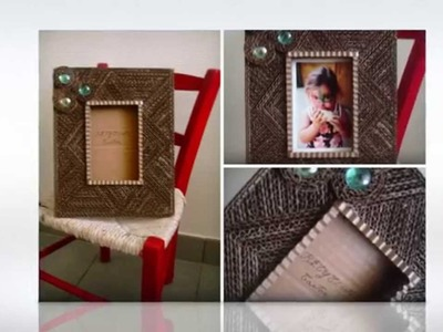 Creaciones de carton( porta-retratos ). création en carton ( cadre-photo )