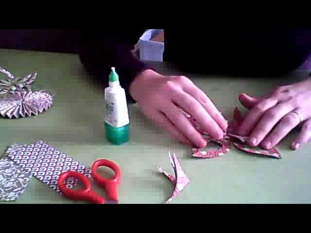 Déco de noel: étoile en origami
