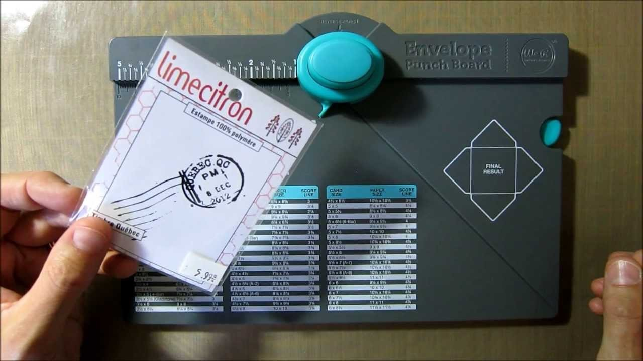 Envelope punch board - Créateur d'enveloppes We R memory - Scrapbooking