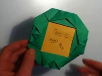 Faire un encadrement en origami - Fabriquer un cadre en papier