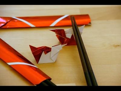 Origami - Etui à baguettes - Chopsticks Holder - Porta Hashi [Senbazuru]