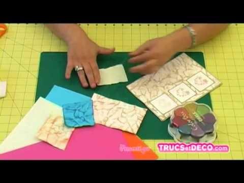 Tutoriel sur le froissage de papier en scrapbooking - Tutoriel par trucsetdeco.com