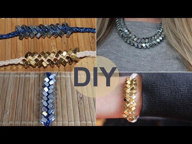 DIY: Bracelet.Collier avec trois fois rien !
