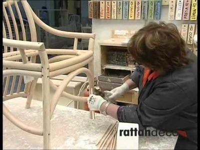 Fabrication d'une chaise en rotin