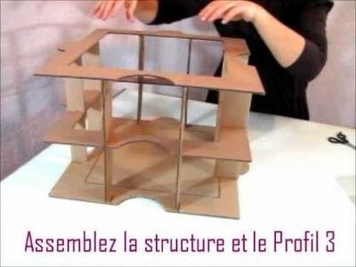 Montage du kit de meuble en carton Huzzle : Etape 2