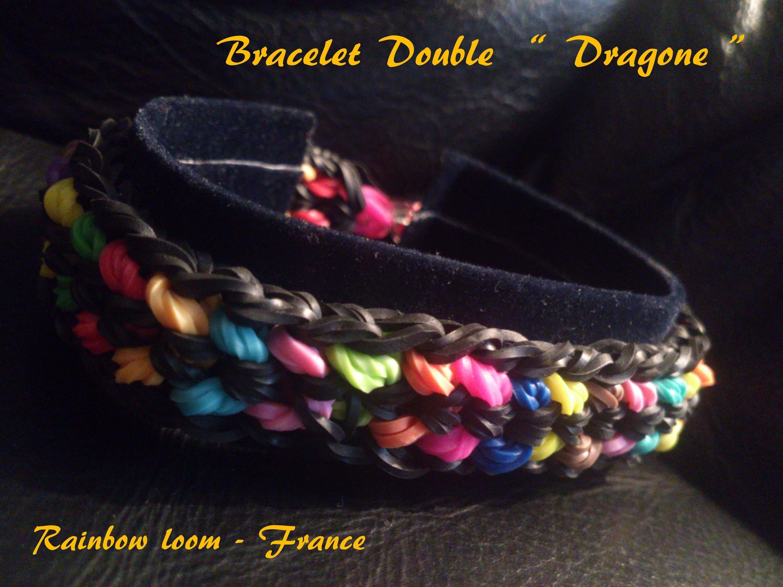 """Bracelet Double """" Dragone """" Rainbow Loom® Tutoriel Français (Niveau Intermédiaire)"""