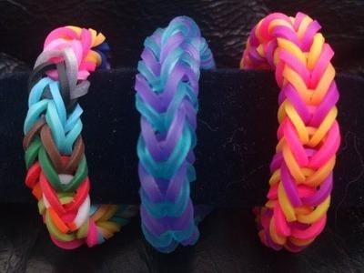 """Bracelet """"Tresse"""" Rainbow Loom® Tutoriel Français (Niveau Débutant)"""