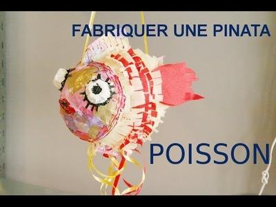 Fabriquer une pinata en papier mâché - un poisson