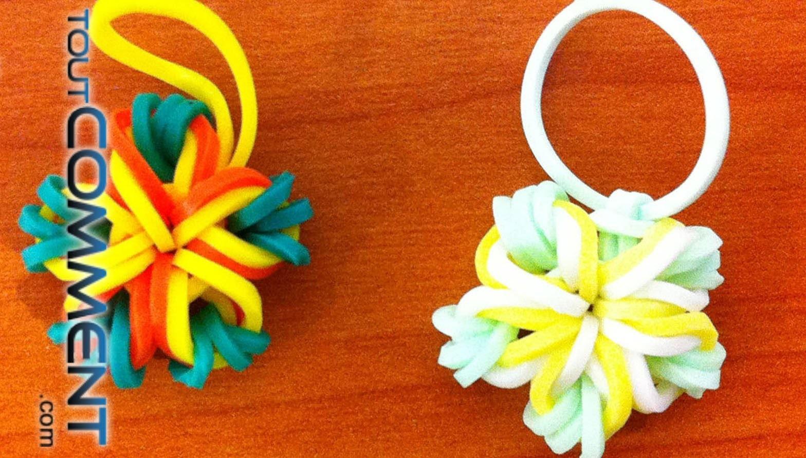 Fleur à 5 pétales Rainbow Loom (Tutoriel en français)