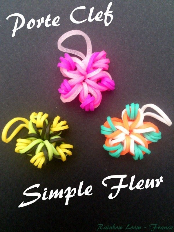 Porte Clef simple Fleur Rainbow Loom® Tutoriel (Débutant)