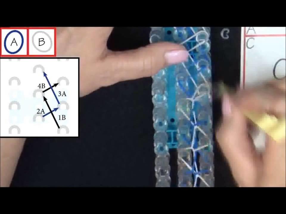 Rainbow loom tuto - Bracelet spirale