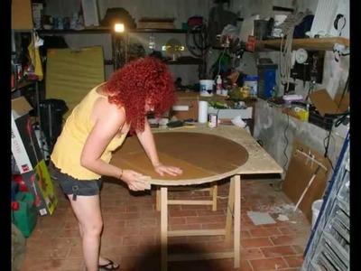 Table en carton rustique 2 Valérie