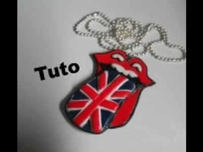 [TUTO Fimo] langue rolling stone drapeau de l'Angleterre