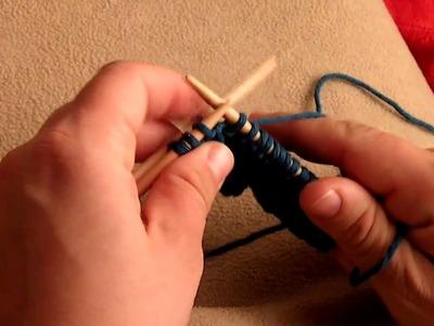 Apprendre à tricoter : torsade, 2 mailles croisées vers la droite