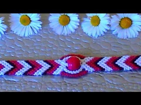 Bracelet Brésilien Motif  Oeil (débutant)