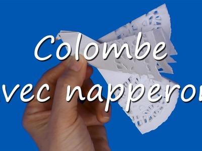 Colombe de la paix avec napperon en papier