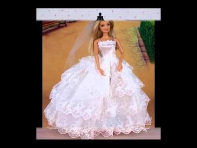 Petit défilé de robes de mariées pour poupées mannequins de type Barbie