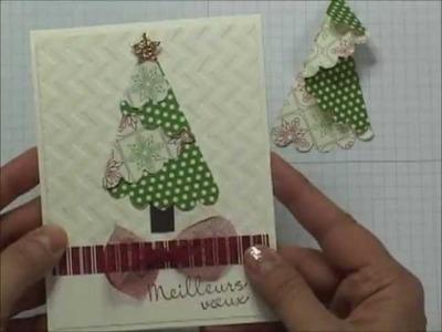 Stampin UP - Sapin de Noël plié en papier