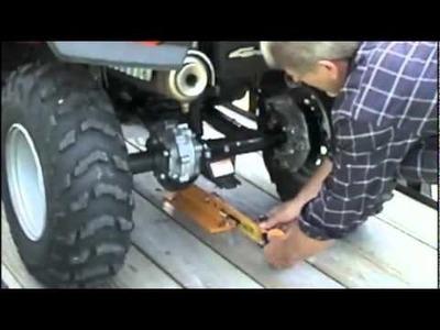 Système de fixation quad sur remorque