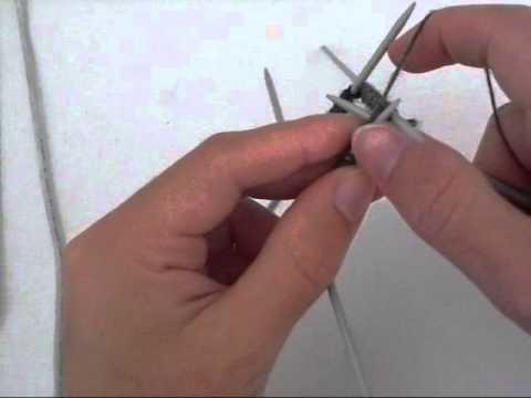 Tricoter en rond avec 5 aiguilles double points