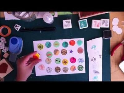 TUTO - Comment créer ses propres pastilles (Embellissement scrap)