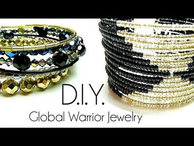 Tutoriel - D.I.Y. : Global Warrior Jewelry - Fil à mémoire de forme. memory wire cuff bracelet