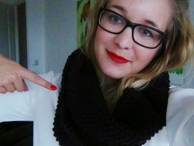 Tutoriel : Tricoter une écharpe tube !